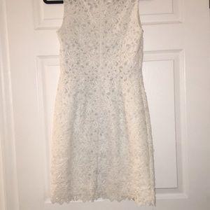 LOFT Dresses - LOFT | White Lace Sheath Dress